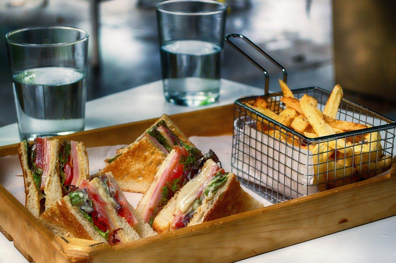 club sandwich, fast food, snack