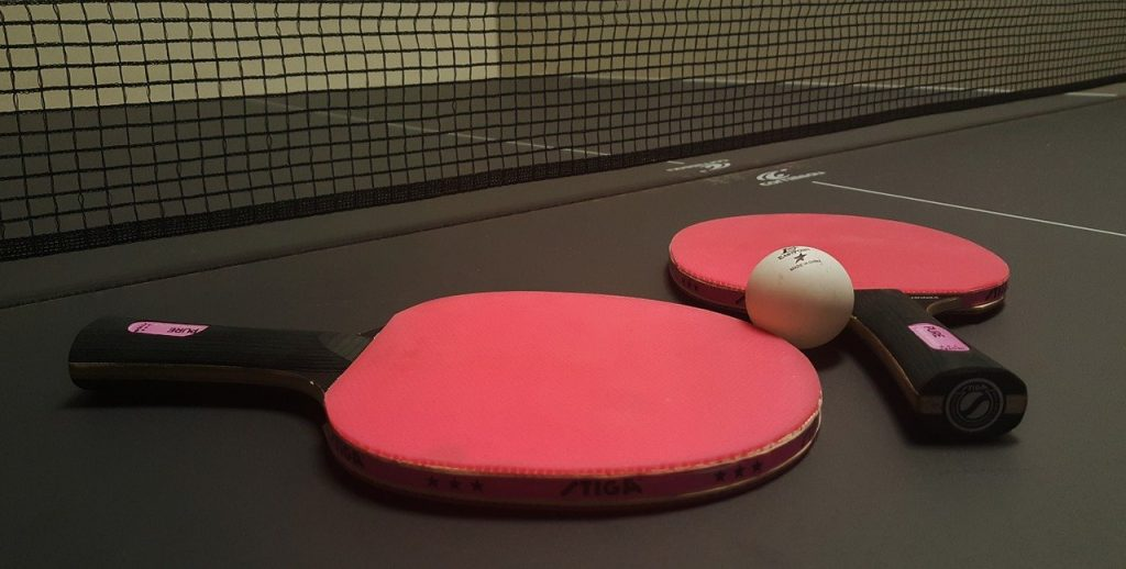 ping pong, table tennis, paddles